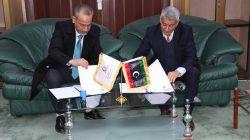 جامعة صبراتة توقع إتفاقية تعاون مع الاكاديمية الليبية