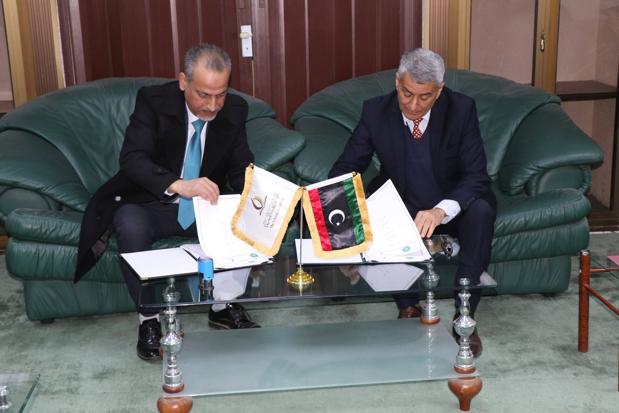 جامعة صبراتة توقع اتفاقية مع الاكاديمية الليبية(1)