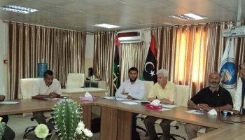اجتماع اللجنة التحضيرية للمؤتمر الموسوم الاشكاليات التطبيقية في المنظومة القانونية الليبية – المزمع عقده بكلية القانون زلطن