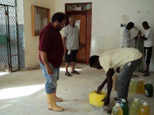 حملة نظافة بكليات جامعة صبراتة تحت شعار- معا من اجل المحافظة على نظافة جامعتنا