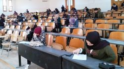 امتحانات المتقدمين لبرامج الدراسات العليا بكلية الهندسة صبراتة