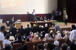 Read more about the article كلية القانون صرمان تقييم عرض المحكمة الصورية ضمن حفل تخريج الدفعة الخامسة عشر