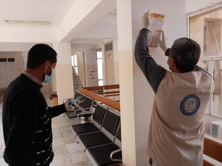 جامعة صبراتة تقوم بحملة توعية بمخاطر وطرق الوقاية من فيروس كورونا المستجد في اطار دورها في خدمة المجتمع04