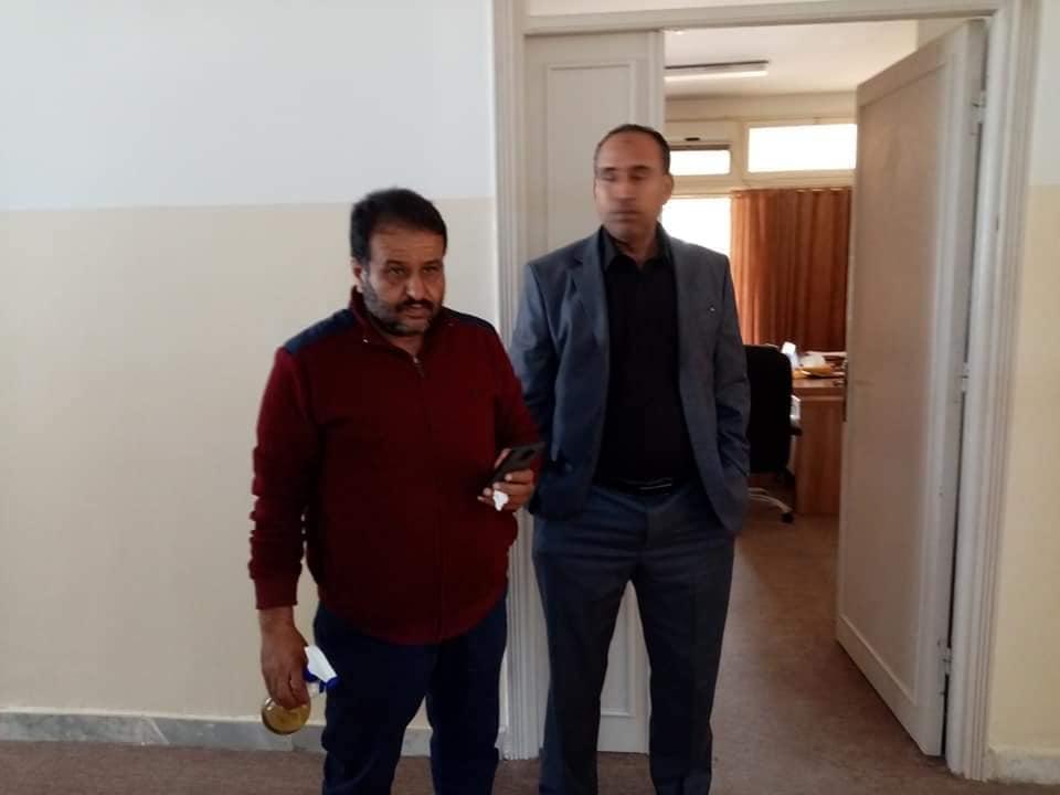 حملة تعقيم ادارة جامعة صبراتة في اطار الوقاية من مرض كورونا المستجد حفظ الله ليبيا06