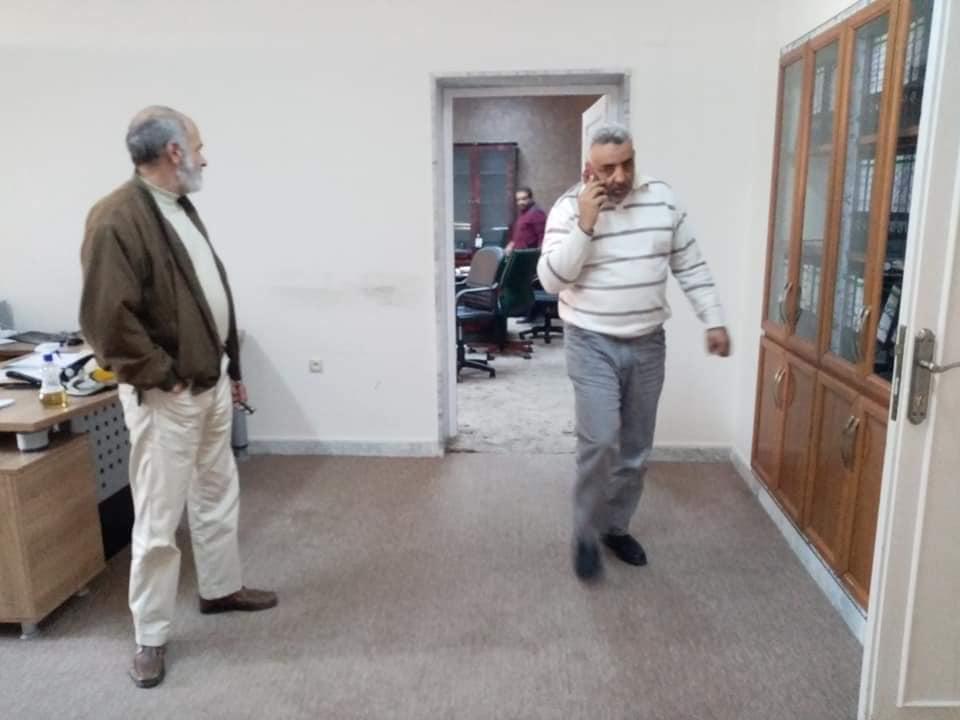 حملة تعقيم ادارة جامعة صبراتة في اطار الوقاية من مرض كورونا المستجد حفظ الله ليبيا10