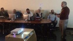 اجتماع  اللجنة العلمية مع اساتذة الجامعات لاجل مقترح بحثي عن  فيروس كورونا