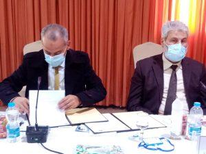 توقيع اتفاقية تعاون علمي بين جامعة صبراتة وجامعة غريان