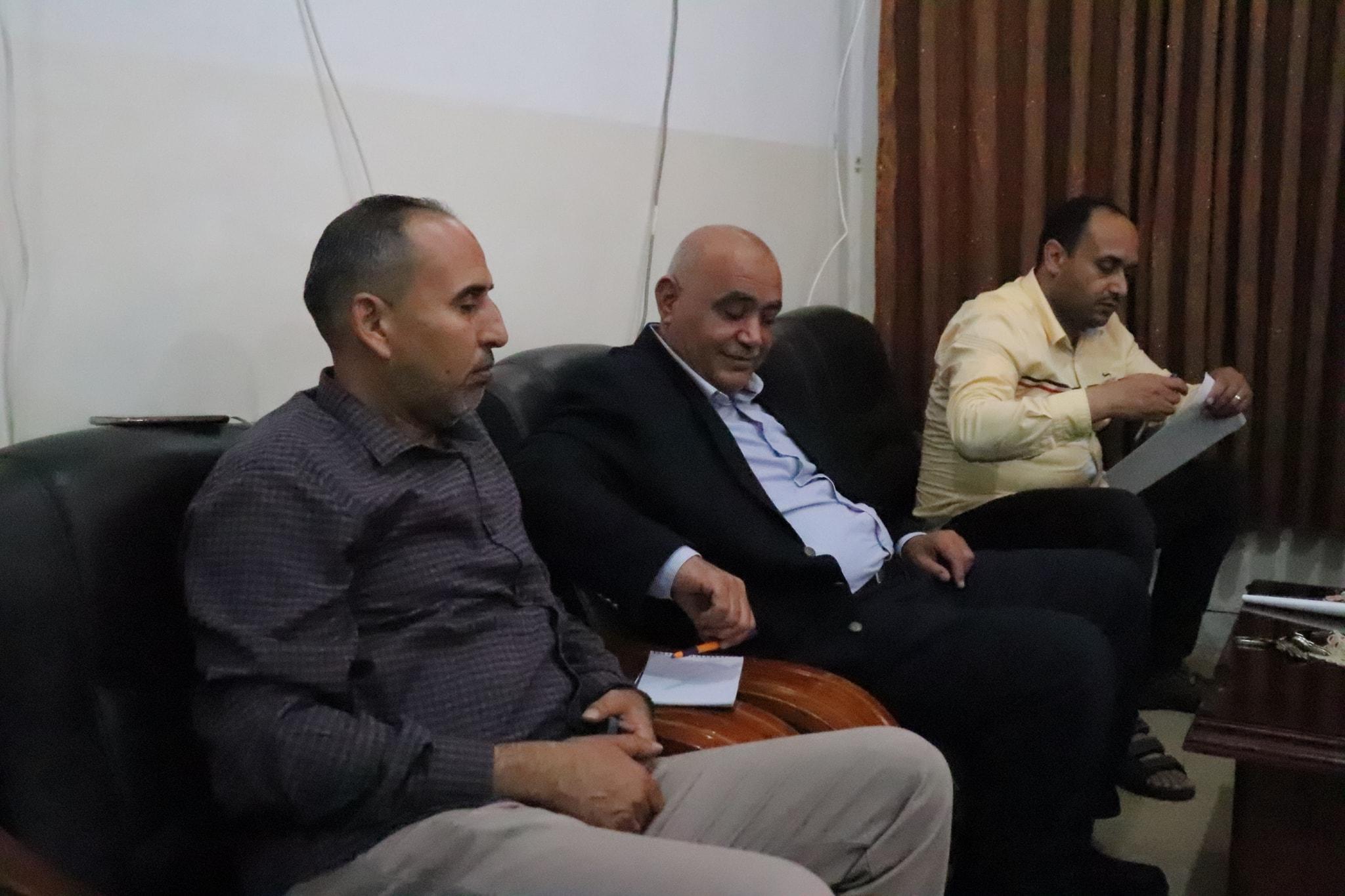 اجتماع الكاتب العام لجامعة صبراتة بعميد كلية العلوم صبراته