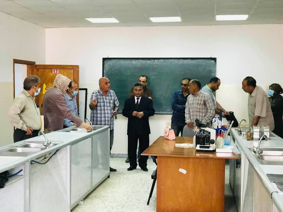 زيارة رئيس جامعة صبراته لكليات مدينة الجميل