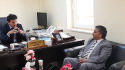 اجتماع رئيس جامعة صبراته مع مدير مستشفي صرمان العام