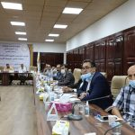 معالي وزير التعليم العالي والبحث العلمي يجتمع بمسجلي الجامعات العامين.
